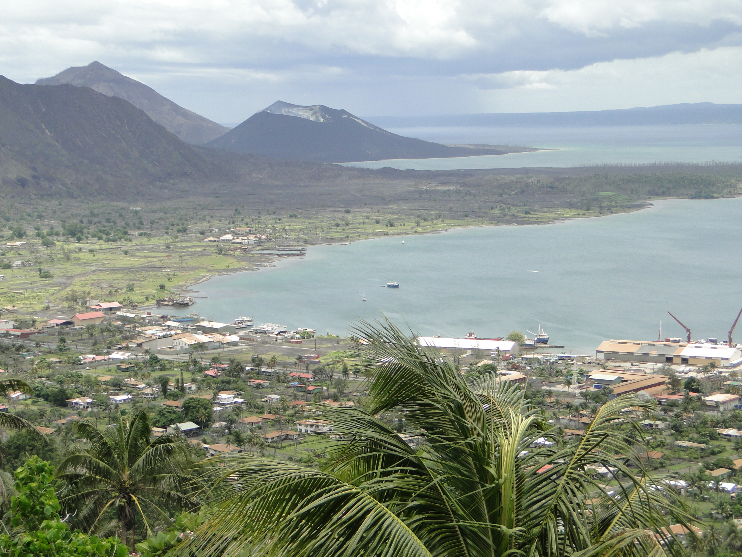Rabaul Harbour & Volcanoes