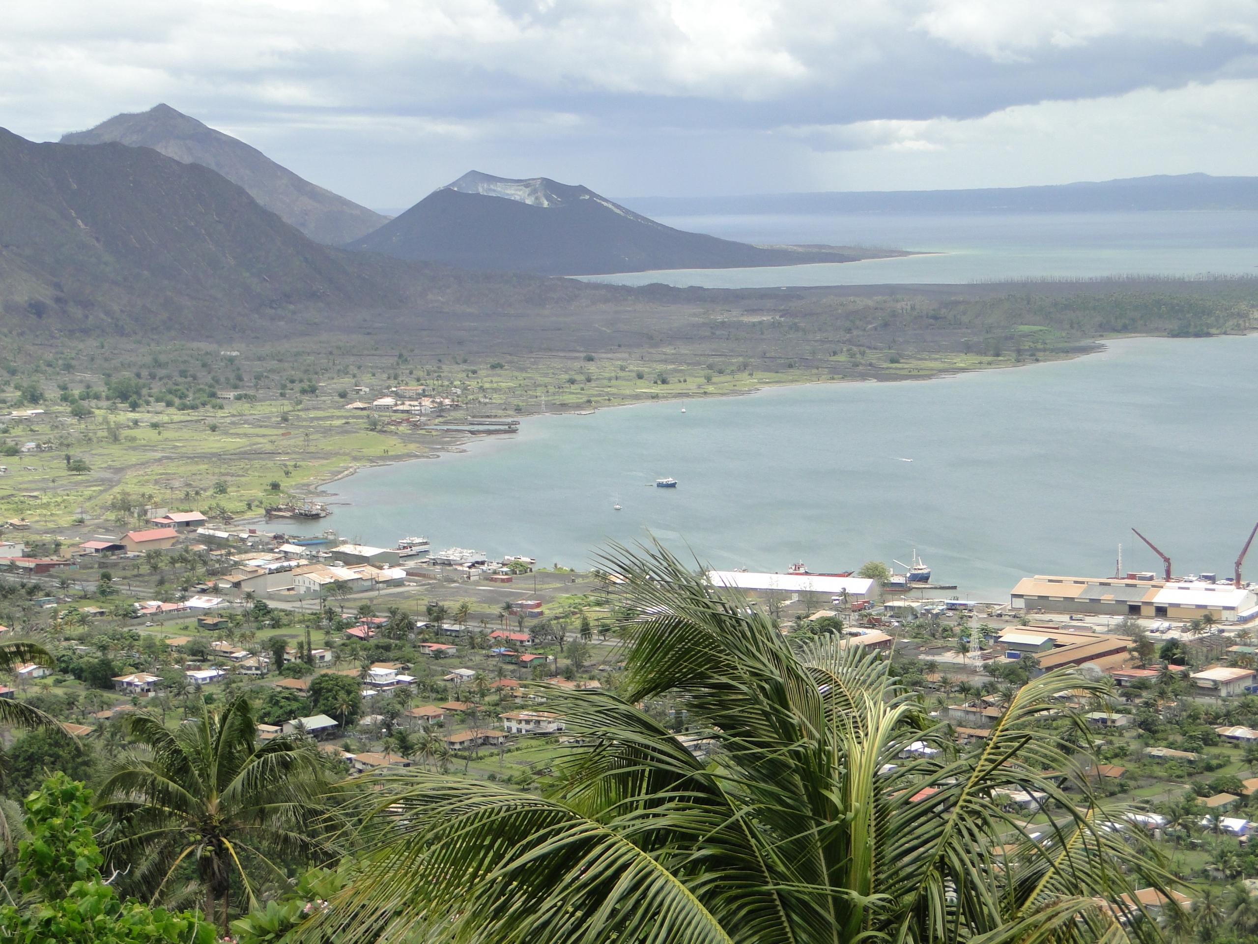 Rabaul Harbour & Volcanoes